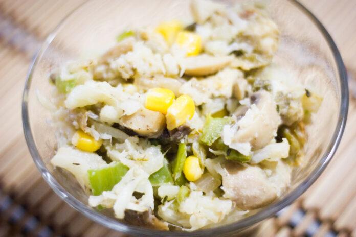 Arroz de coliflor, una forma divertida de comer coliflor.