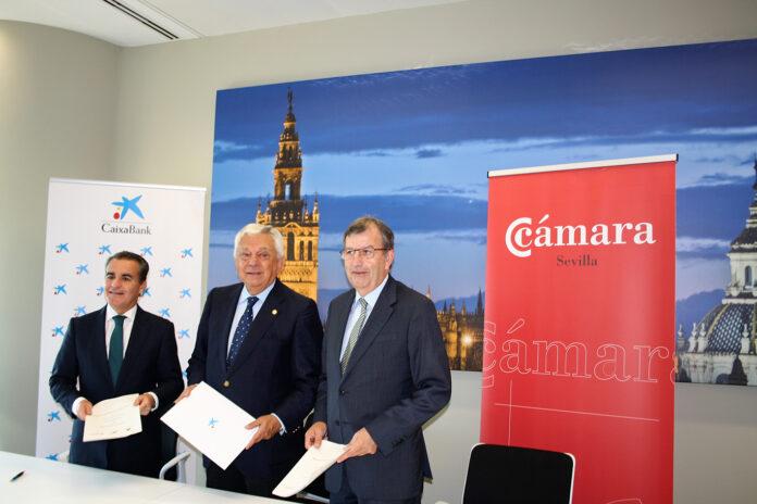 CaixaBank y la Cámara de Comercio acuerdan favorecer la implantación de empresas locales en el Centro Comercial TORRE SEVILLA.