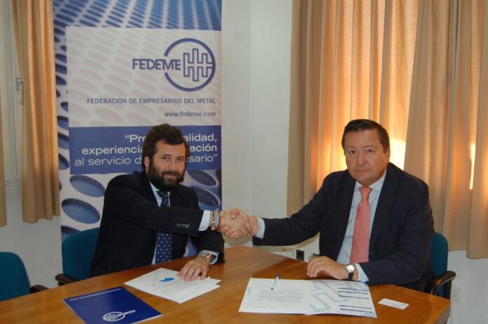 Convenio de colaboración entre FEDEME (Federación Empresarios del Metal) e Ibersponsor, Consultores de Comunicación.